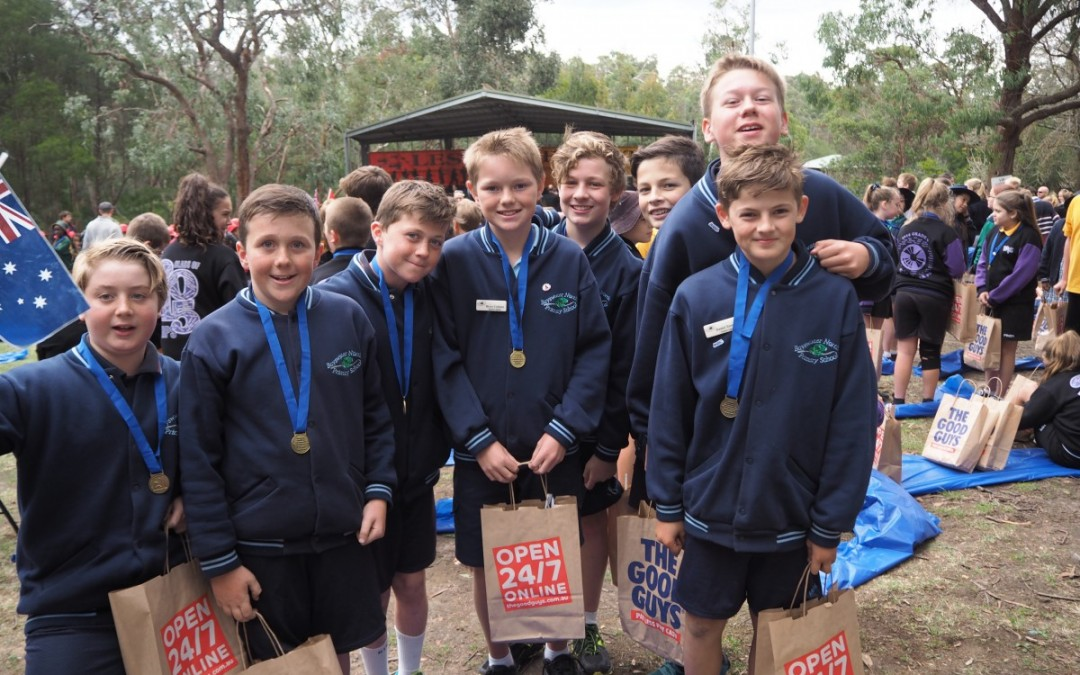 On Wednesday the 22nd of April, 30  grade 6 students from BNPS attended the Ringwood RSL's Anzac service at Ringwood Lake. They were part of 700 students attending on the day. Our two school captains laid a memorial wreath during the service.