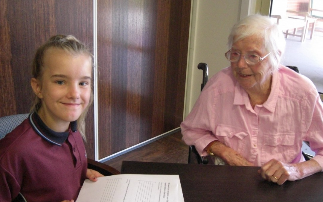 Grade 5B visits Heritage Gardens Aged Care Home