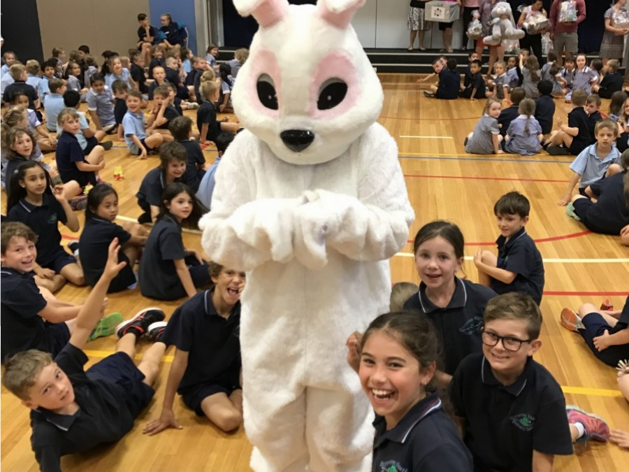"Look who ""hopped"" into assembly!"